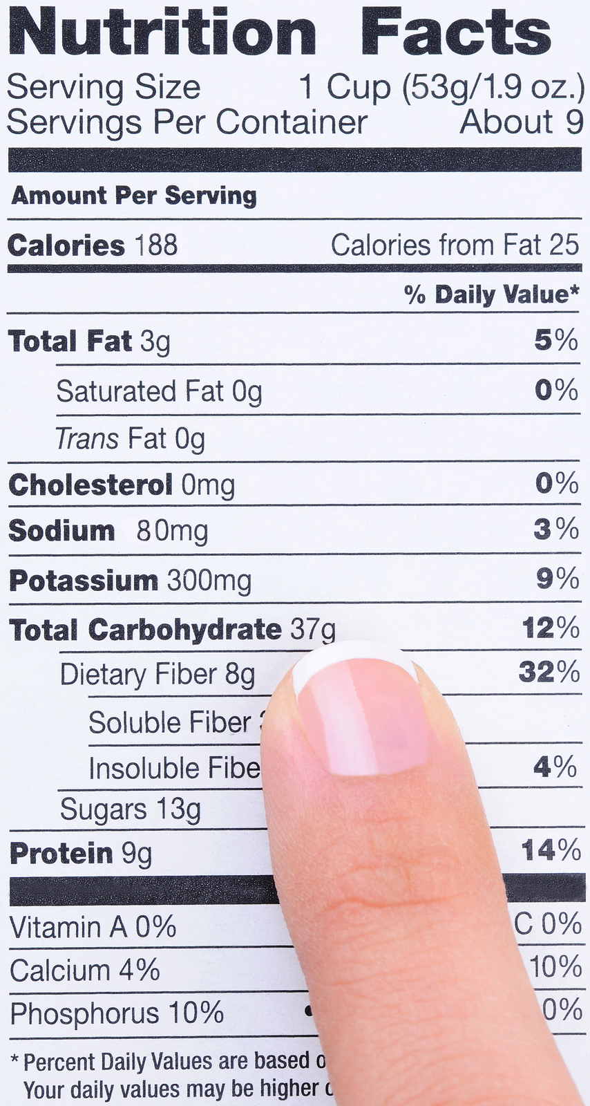 What S In A Label Nutrition Facts Hearty Nutrition Blog