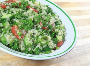 Tabouleh made with quinoa.